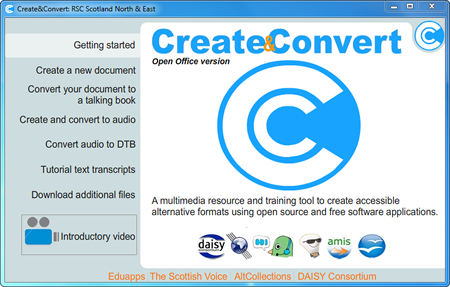 The Create and Convert Interface